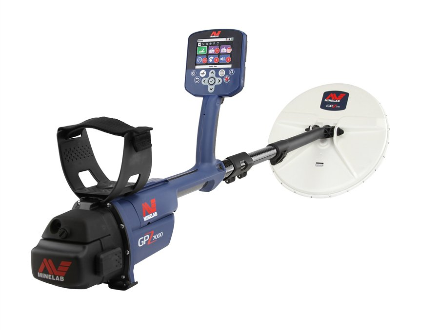 The AV Minelab GPZ 7000 Gold Nugget Metal Detector, a metal detector available at West Covina Pawn & Loan.